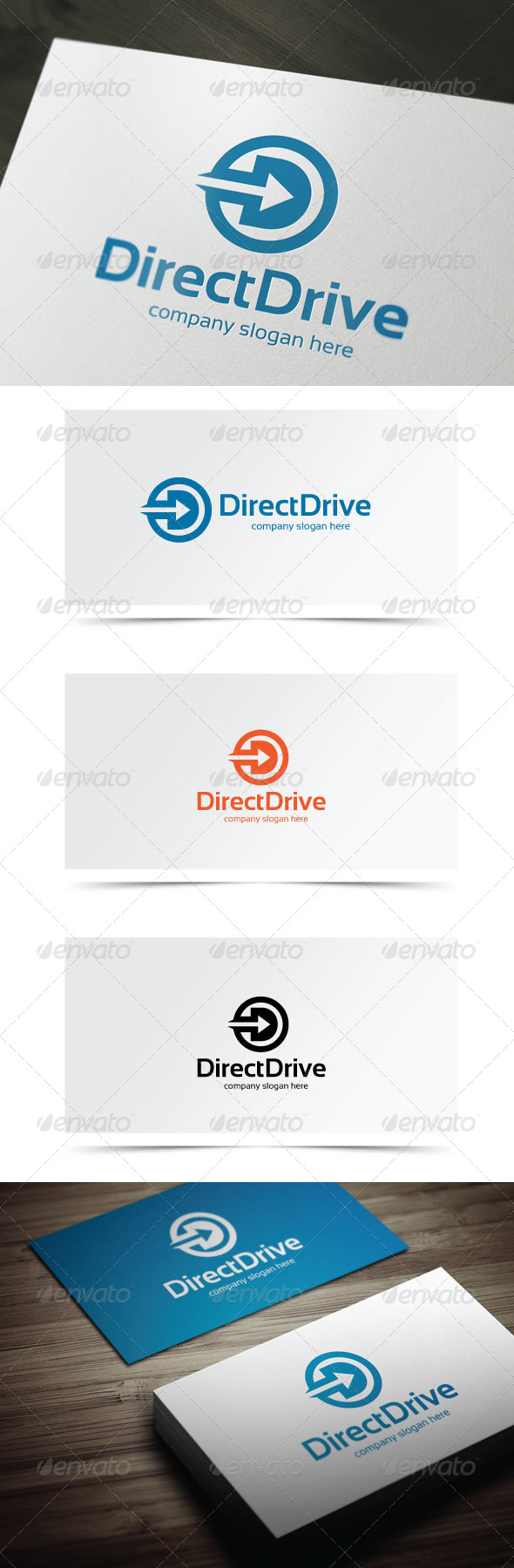 Direct Drive - Letters Logo Templates