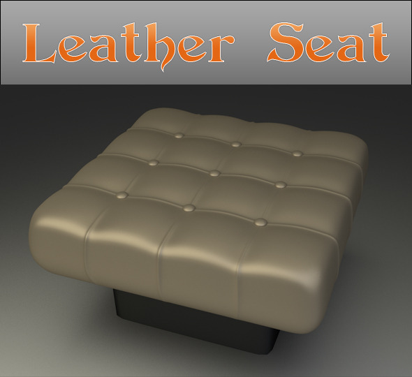 Leather Seat - 3DOcean Item for Sale