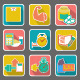 Set of Flat Icons: Diet and Fitness - GraphicRiver Item for Sale