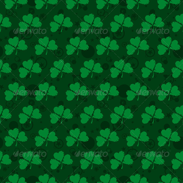 Seamless Pattern with Clovers - Seasons/Holidays Conceptual