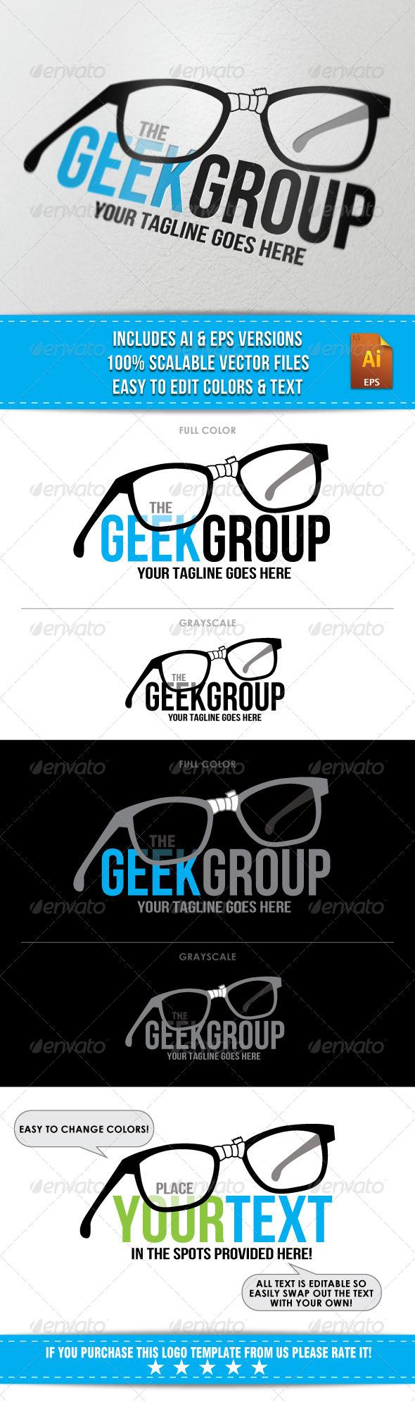 Geek Group Logo - Humans Logo Templates