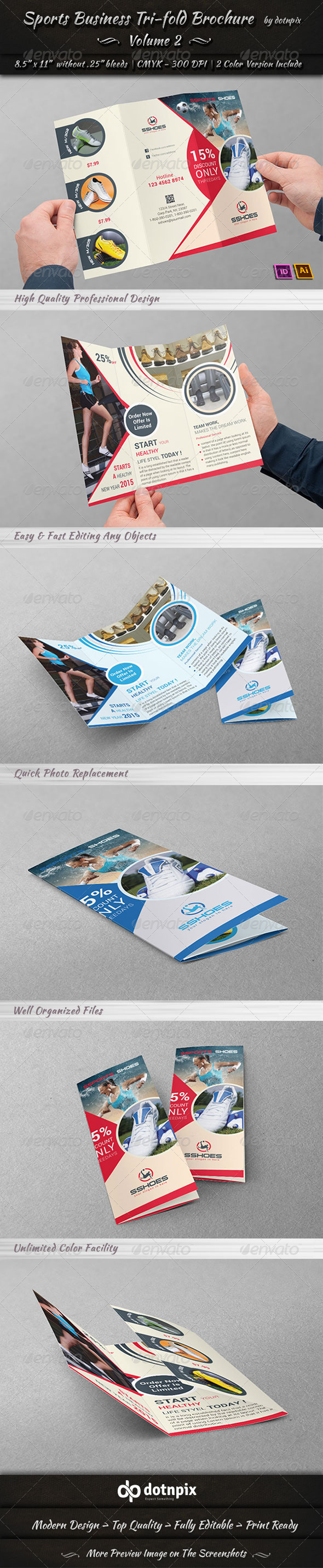 Sports Business TriFold Brochure | Volume 2 - Corporate Brochures