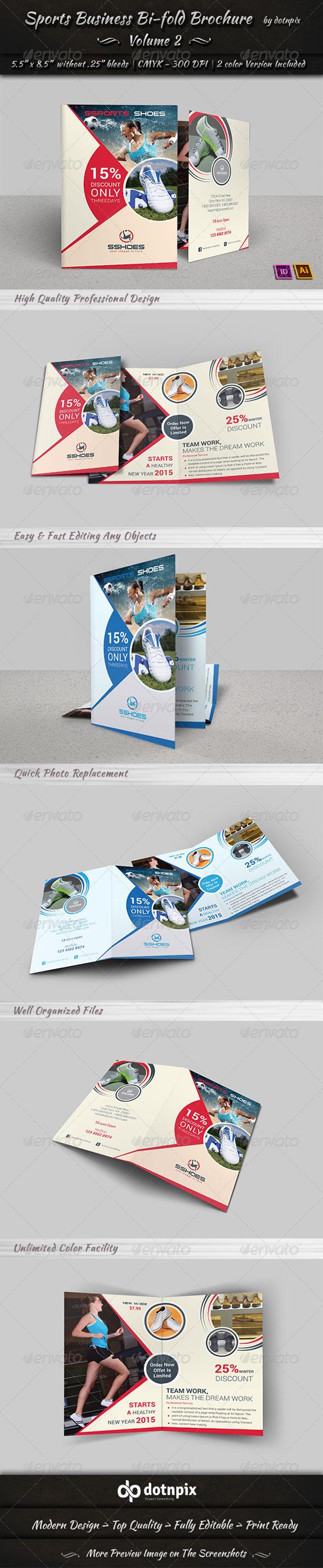 Sports Business Bi-Fold Brochure | Volume 2 - Corporate Brochures