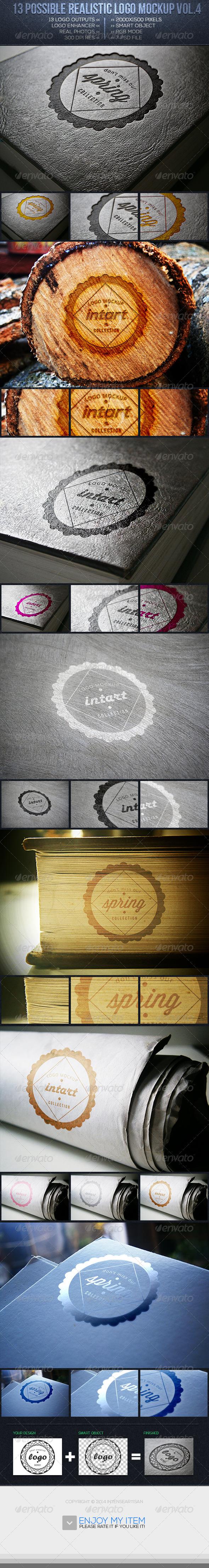 Realistic Logo Mockup Vol.4 - Logo Product Mock-Ups