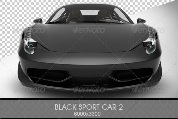 Black Sports Car 2 - 3D Renders Graphics