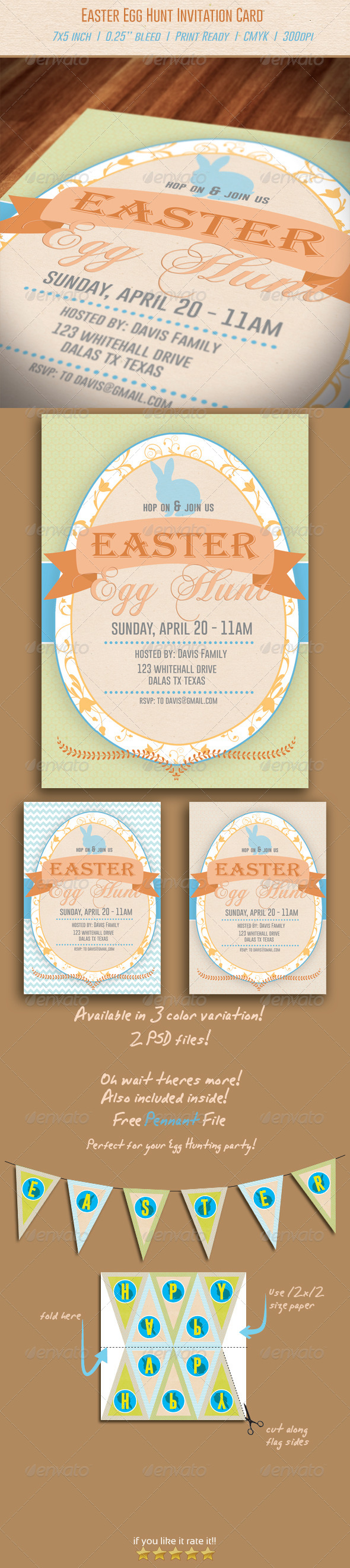 Easter Egg Hunt Invitation - Invitations Cards & Invites