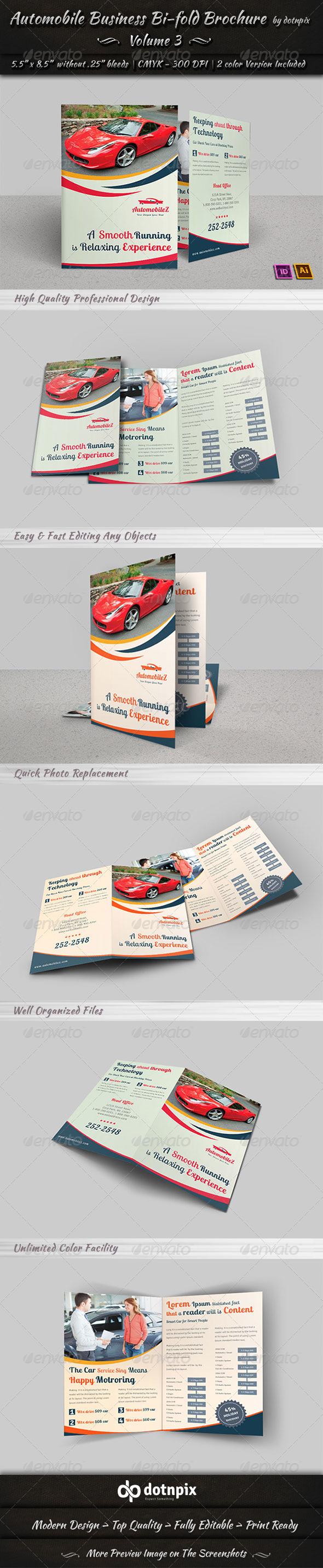 Automobile Business Bi-Fold Brochure | Volume 3 - Corporate Brochures