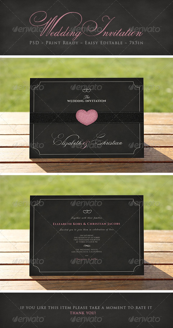 Elegant Wedding Invitation - Weddings Cards & Invites