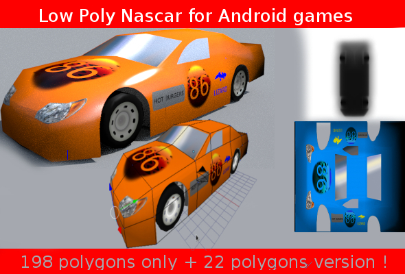 low poly nascar  - 3DOcean Item for Sale