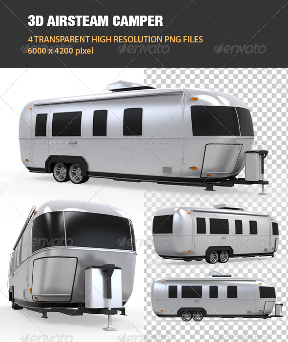 3D Airsteam Camper - Objects 3D Renders