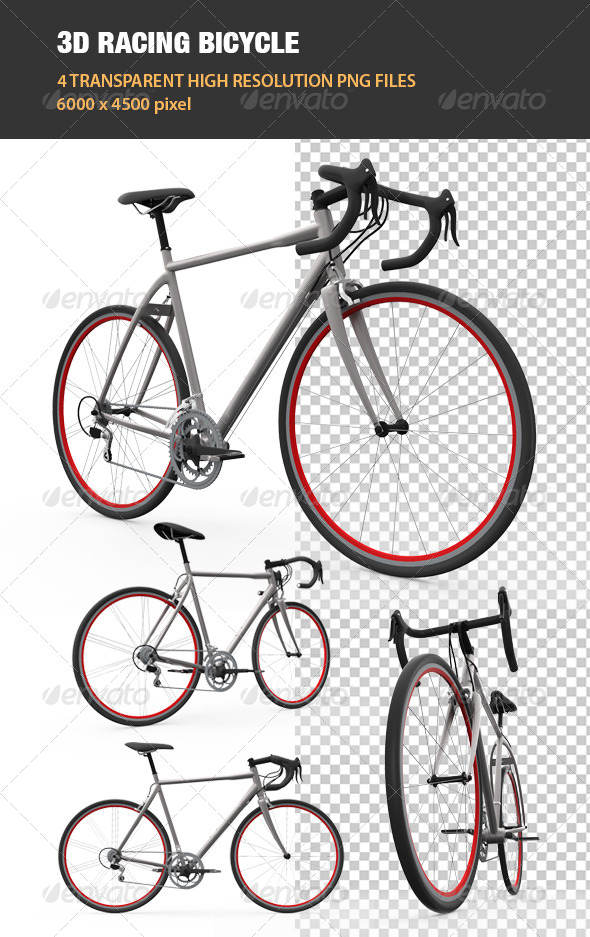 3D Racing Bicycle - Objects 3D Renders