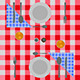 Abstract Checkered Dinner Setting - GraphicRiver Item for Sale