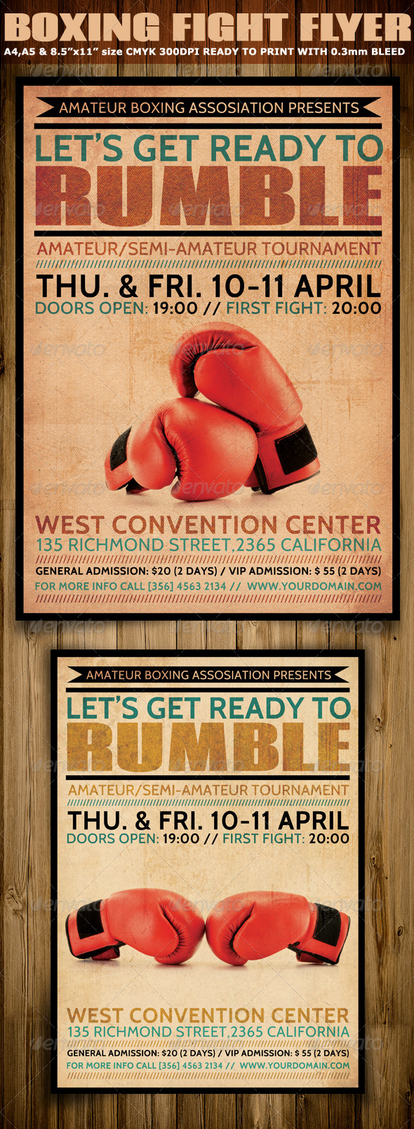 Boxing Flyer Template by Hotpin | GraphicRiver