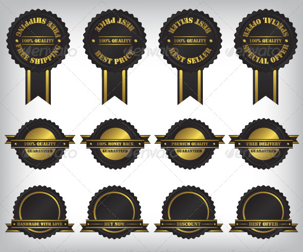 Sale Badges and Labels Illustration - Web Elements Vectors
