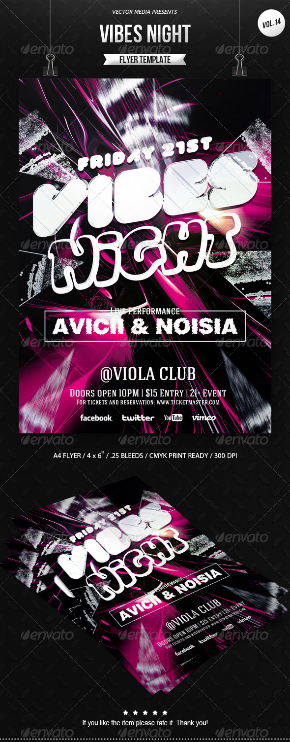 Vibes Night - Flyer [Vol.14] - Clubs & Parties Events