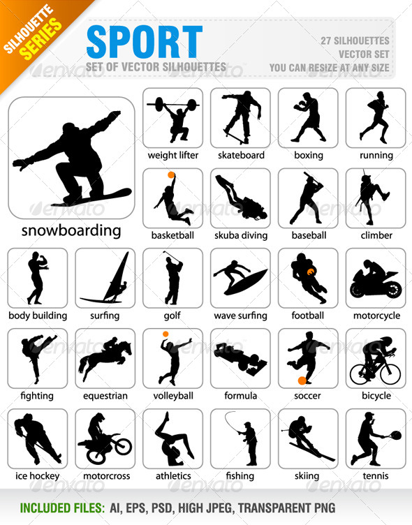 Sport Silhouetttes - Sports/Activity Conceptual