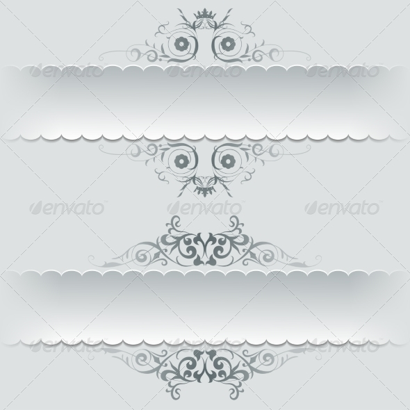 Ornamental Decorative Paper Frames, Banner - Patterns Decorative
