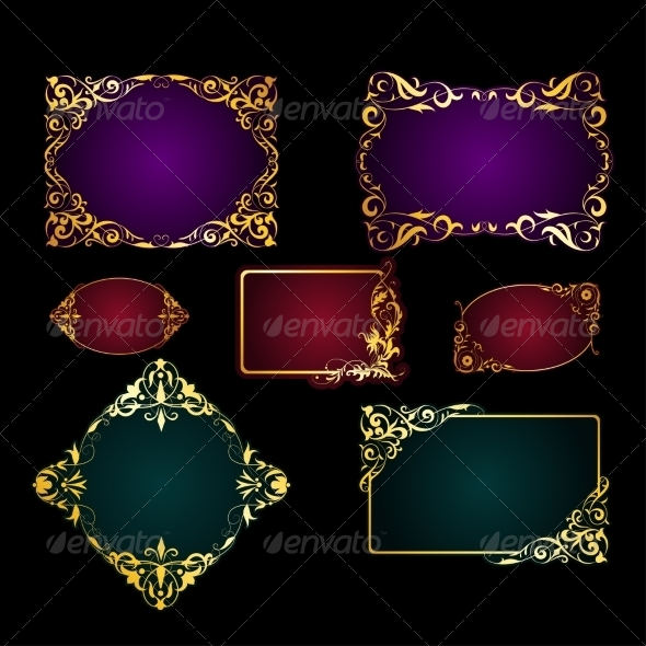 Set of  Template for Greeting Card, Invitation - Backgrounds Decorative