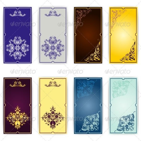 Set of Template for Greeting Card, Invitation - Patterns Decorative