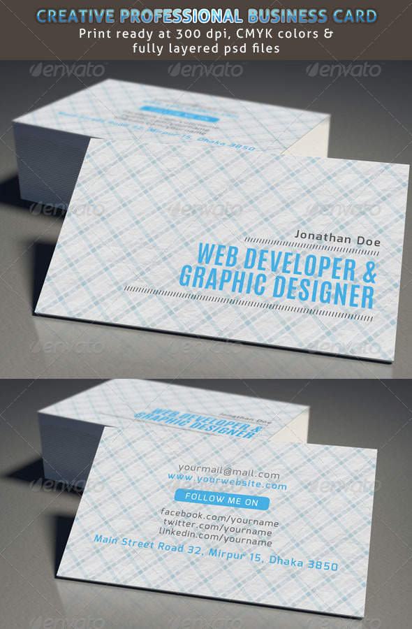 Web Developer Business Card by samiul75 | GraphicRiver