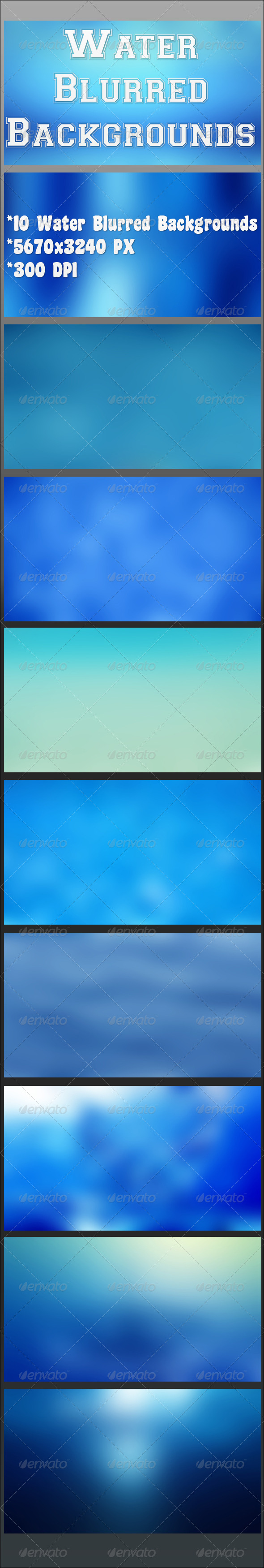 Water Blurred Backgrounds - Backgrounds Graphics