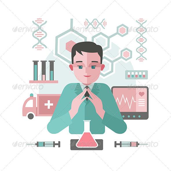 Medicine Abstract Background with Doctor - Health/Medicine Conceptual
