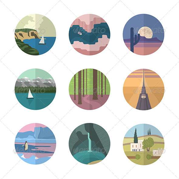 Landscapes Icons Collection - Miscellaneous Icons
