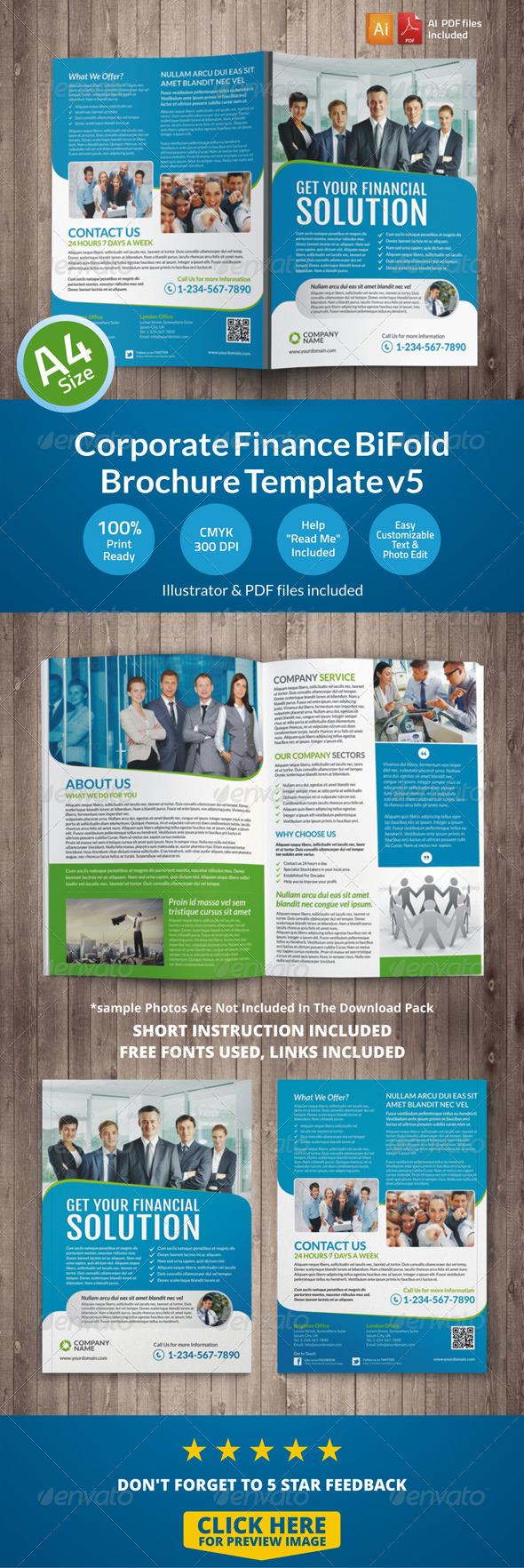 Corporate Finance BiFold Brochure Template v5 - Corporate Brochures