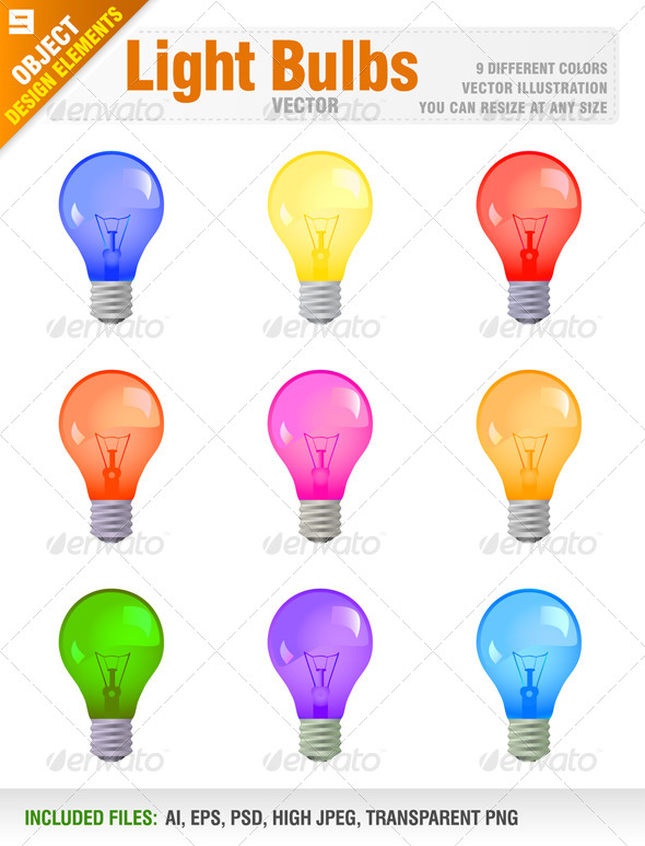 Light Bulbs - Man-made Objects Objects