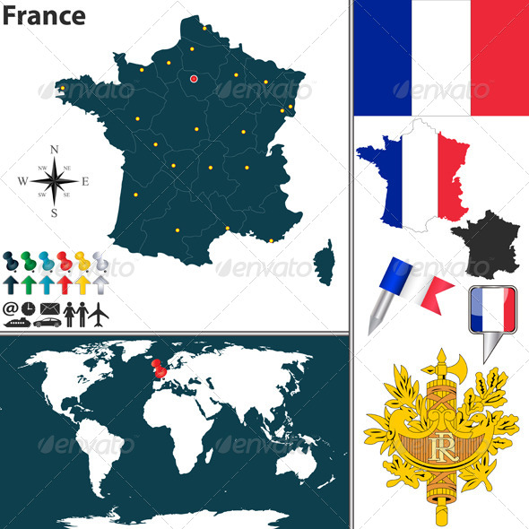 Map of France - Travel Conceptual
