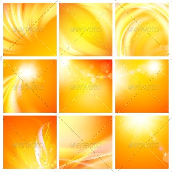 Set of Nine Abstract Backgrounds - Abstract Conceptual