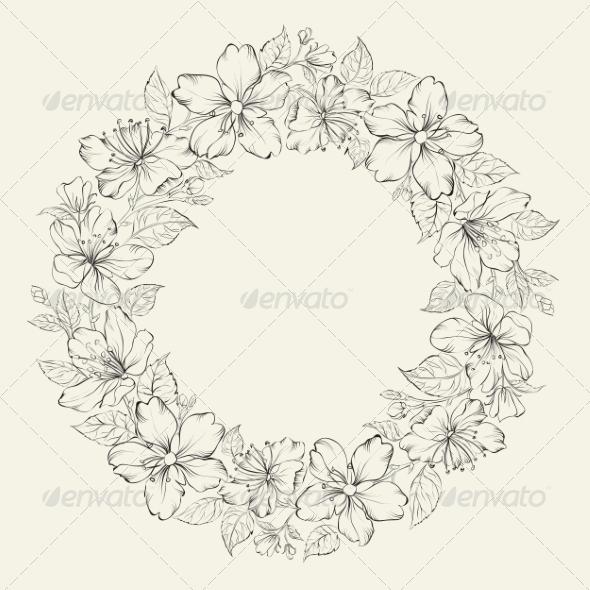Floral Wreath Wedding Design - Flowers & Plants Nature