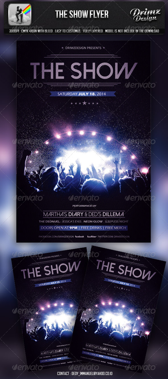 The Show Flyer - Events Flyers