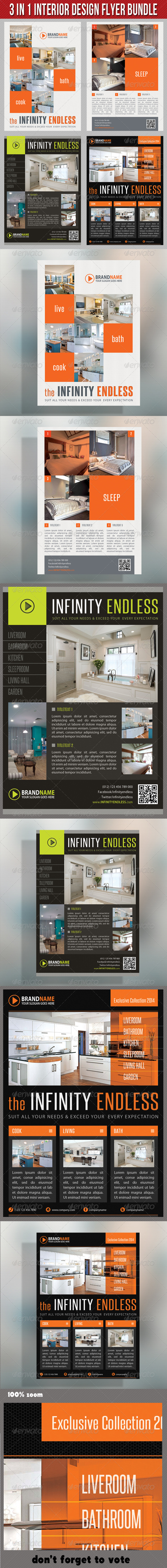 3 in 1 Interior Product Flyer Bundle 01 - Commerce Flyers