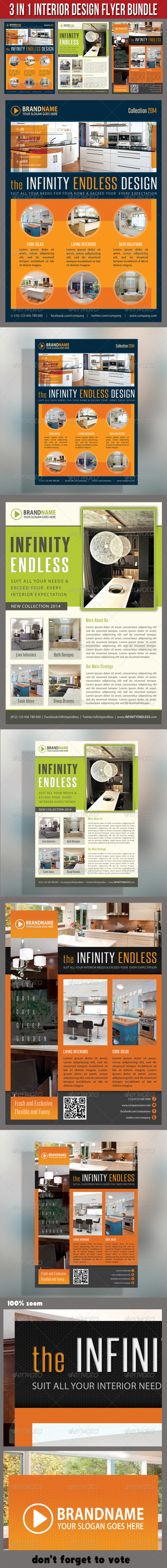 3 in 1 Interior Product Flyer Bundle 03 - Commerce Flyers