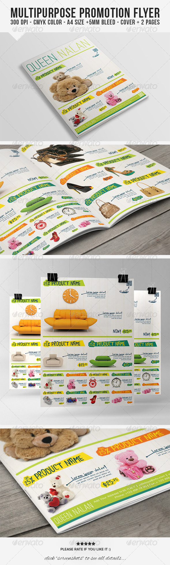 Multipurpose Product Promotion Flyer - Commerce Flyers