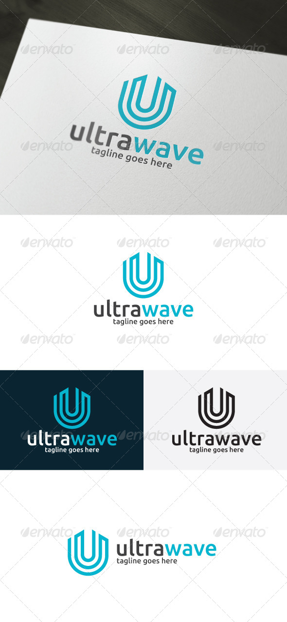 Ultra Wave Logo — Letter U - Letters Logo Templates