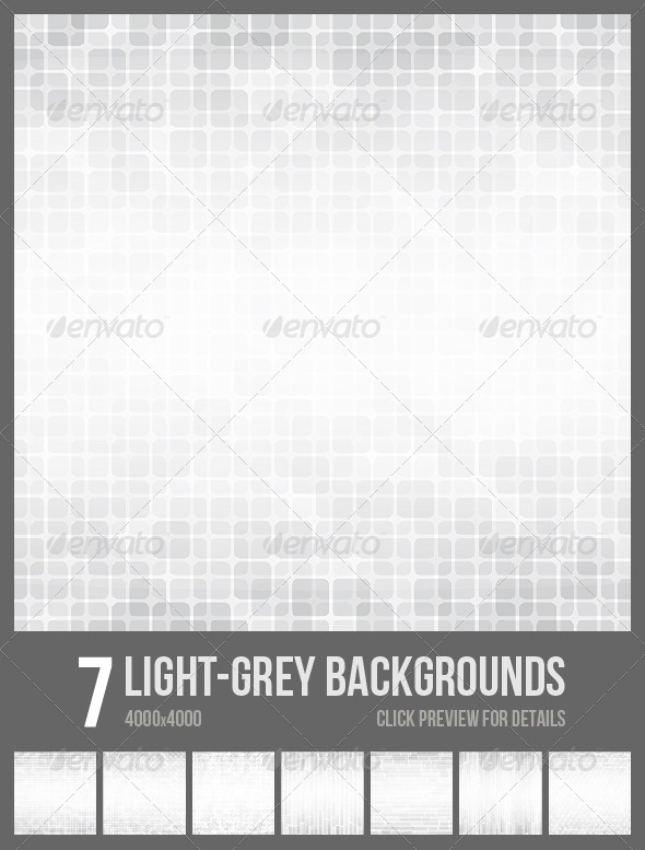 7 Light Grey Backgrounds. - Tech / Futuristic Backgrounds