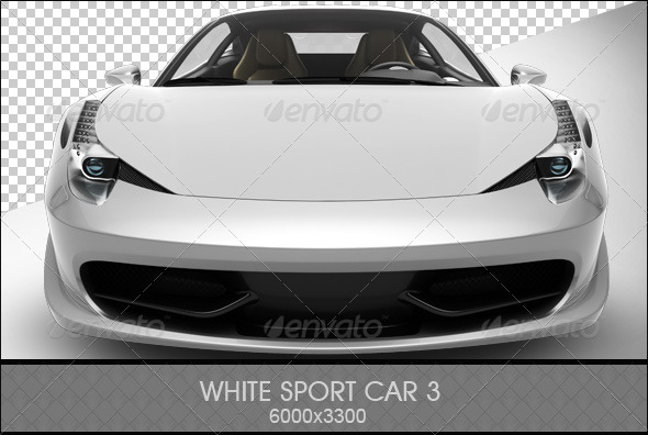 White Sport Car 3 - 3D Renders Graphics