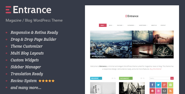 Entrance - WordPress Theme for Magazine and Review - News / Editorial Blog / Magazine