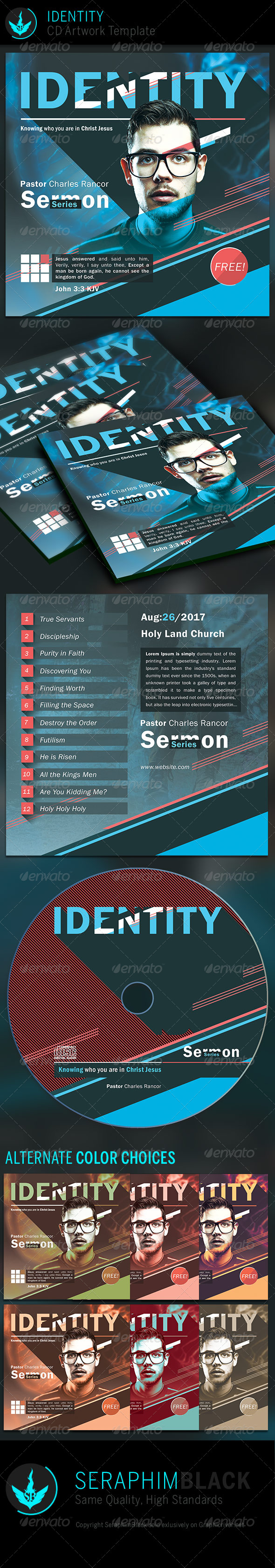 Identity: CD Artwork Template - CD & DVD Artwork Print Templates