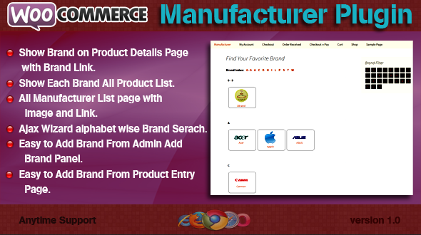 WooCommerce Manufacturer Plugin - CodeCanyon Item for Sale