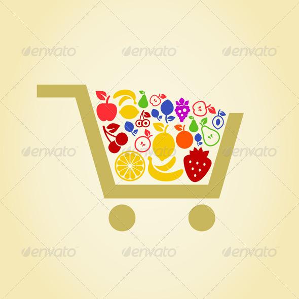 Fruit Cart - Food Objects