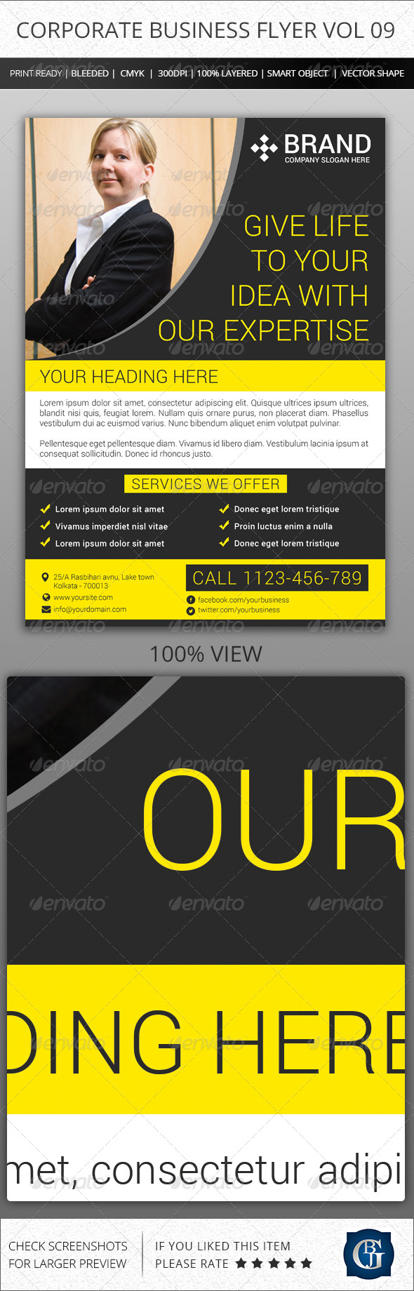 Corporate Creative Business Flyer Vol 09 - Corporate Flyers