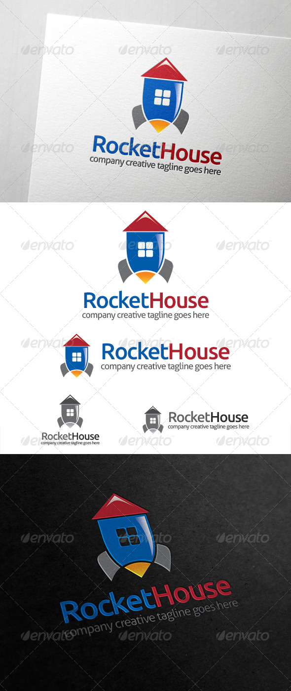 Rocket House Logo - Buildings Logo Templates