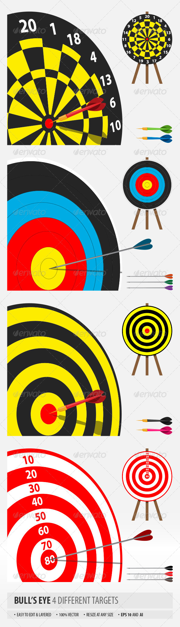 Bull's Eye - Sports/Activity Conceptual