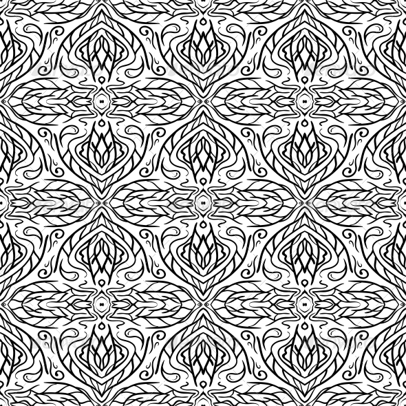Seamless Abstract Hand Drawn Pattern - Backgrounds Decorative