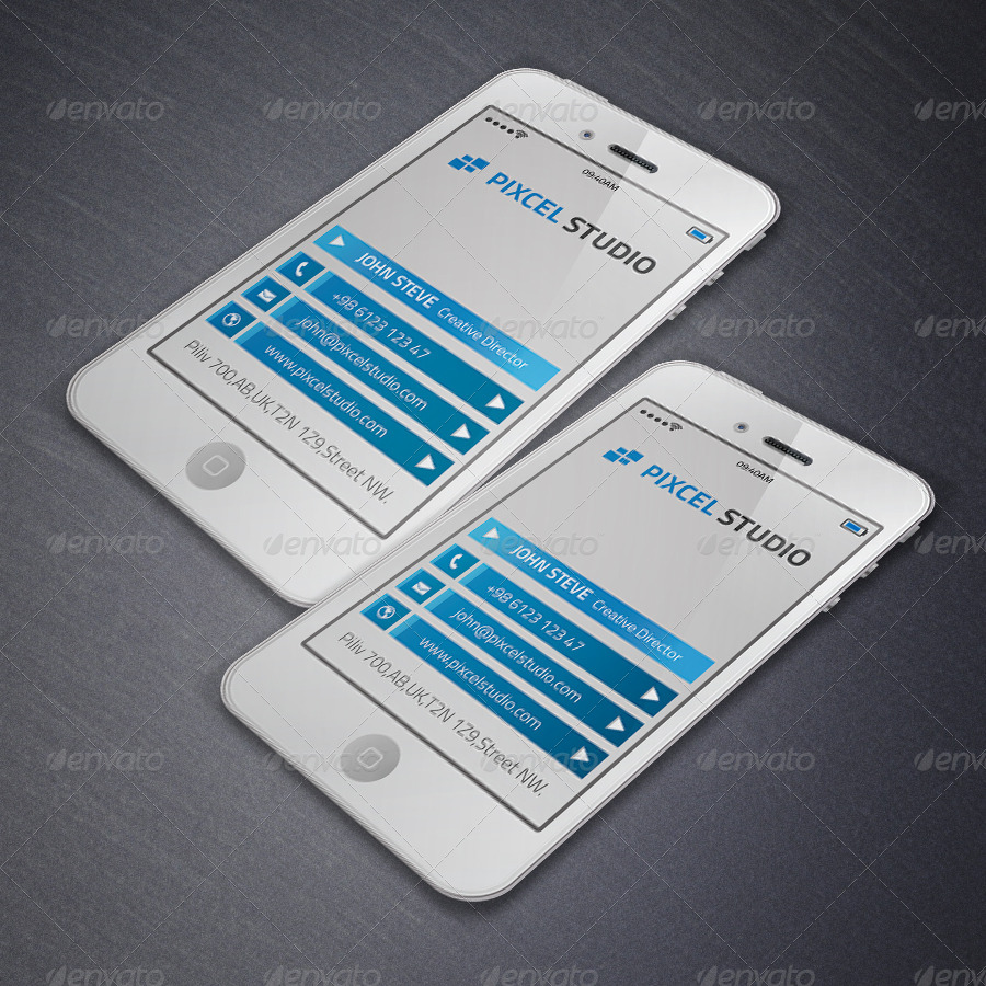 Smart Phone Creative Business Card by oksrider | GraphicRiver
