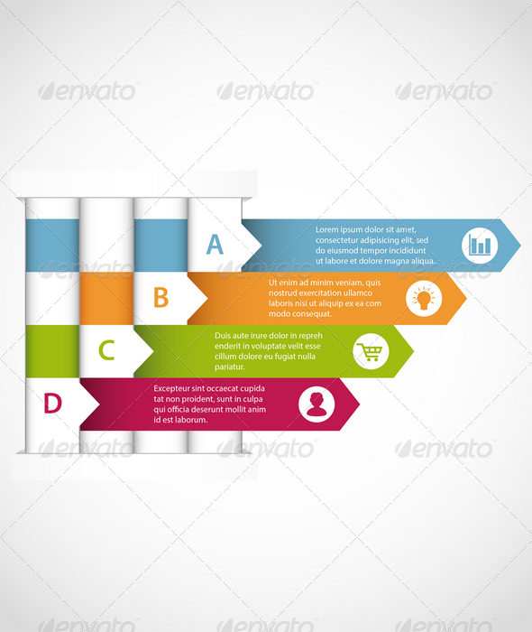 Interwoven Design Infographic Template - Infographics