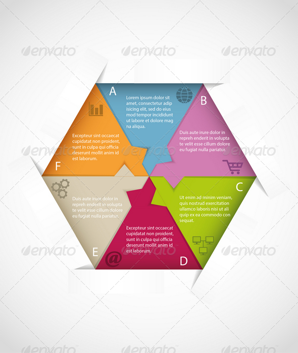 Hexagon Infographic Template - Infographics